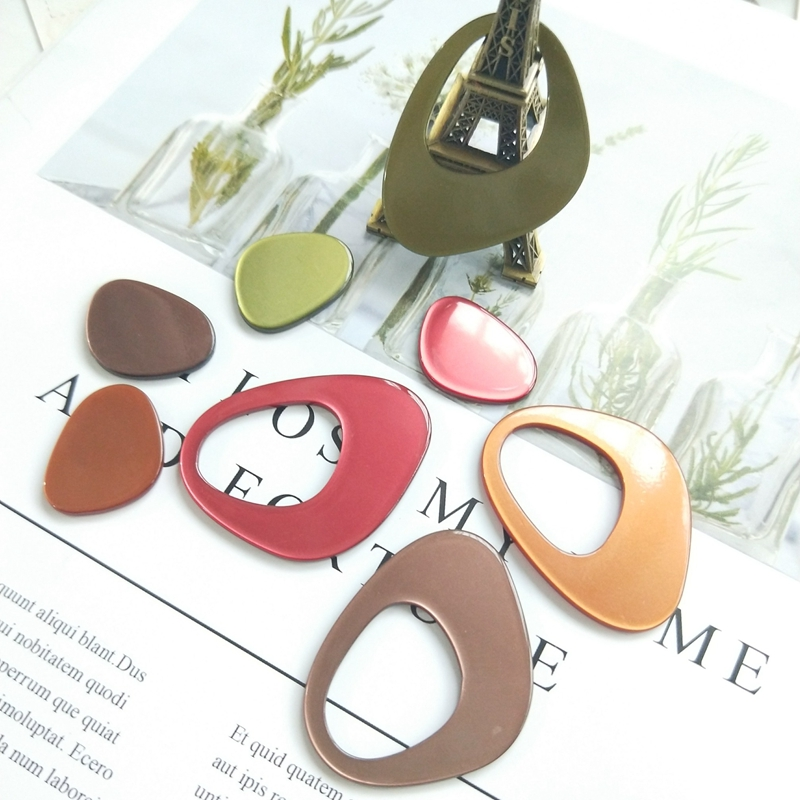 DIY Material Handmade Jewelry Accessories Hollowed-out Acetic Acid Shaped Triangular Earrings Material Pendant Accessories