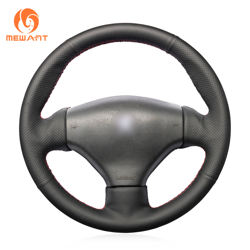 MEWANT Black Artificial Leather Car Steering Wheel Cover for Peugeot 206 1998-2005 206 SW 2003-2005 206 CC 2004 2005 peugeot 107 3d 2005 page 5
