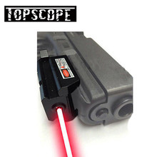 Red Dot Laser Sight Scope 20 Mm Mount Rail Wever Hunting Reflex Scope Tactical Airsoft Air Guns Red Dot Rifle pistol Sight Laser(China)