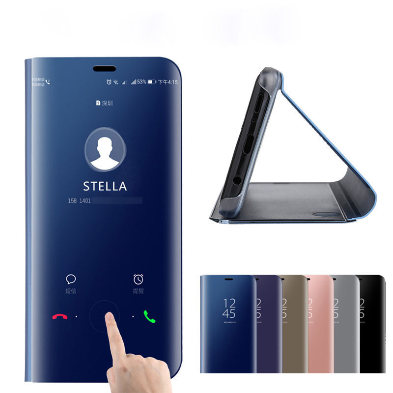 Holsters & Clips View Mirror For Xiaomi Mi 9 Se 8 A1 A2 Lite Redmi Note 7 6 5 Pro 4x 5a Prime 6a Plus S2 Smart Case Flip Shockproof Cover Stand