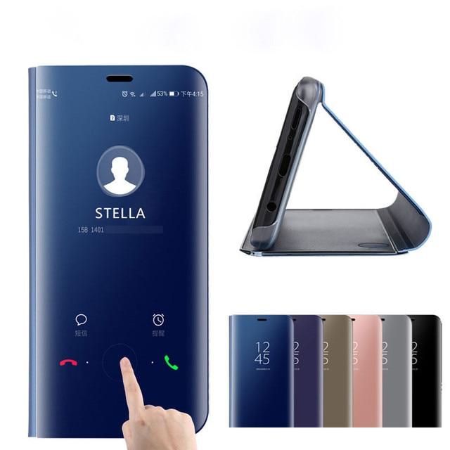Smart View Mirror Flip Case For Xiaomi Redmi Note 5 6 Pro 4 4X 6A S2 5 Plus Note4 Global Cover on xiaomi Mi A2 Lite A1 8 Lite SE