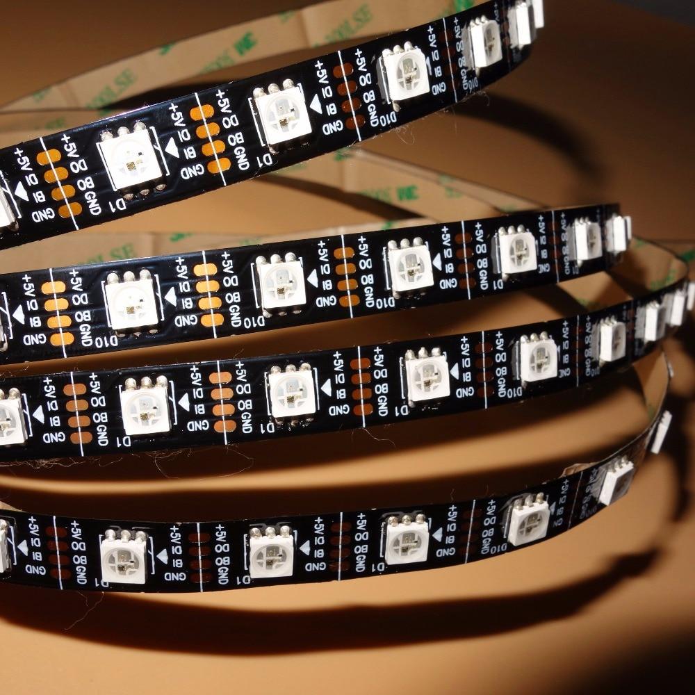Tiras de Led dc5v ws2813 rgb led pixel Modelo Número : Lt-ws2813-60-dc5v-b-ip33-4m