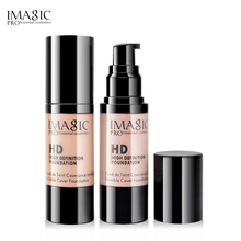 6 Color IMAGIC Whitening Moisturizing HD Liquid Foundation Highlight Shadow Makeup Cosmetic 30ML