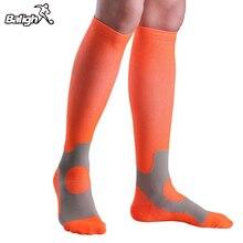 Спортивные носки унисекс для бега, марафона, велоспорта, альпинизма, длинные компрессионные дышащие дезодорирующие баскетбольные носки, чулки
