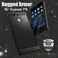 100% Оригинал Spigen Rugged Armor для Huawei P9 - Премиум Мягкая ТПУ Сопротивление Падение Защитный Телефон Случаях для Huawei P9