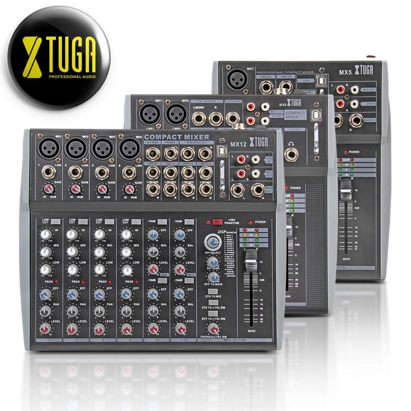 XTUGA UHF Microfones Sem Fio de áudio e um misturador de som com Tela de Distância 2 Canal Headset Mic Sistema Stage Karaoke Bar Festa
