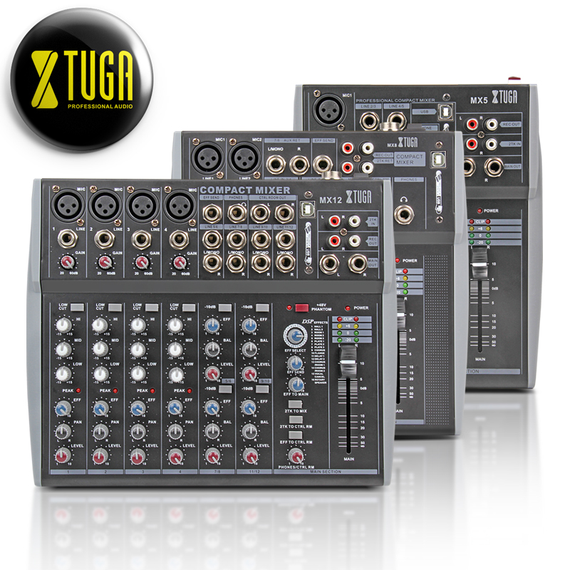 XTUGA audio UHF Wireless Microphones and mixer sound with Screen Distance 2 Channel Headset Mic System Stage Karaoke Bar Party