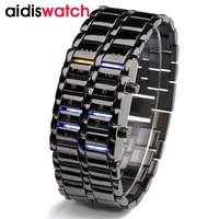 Men LED Watch Waterproof Luxury LED Electronic Watches Stainless Steel Bracelet Wristwatch Luminous Outdoor Sport Watch Men