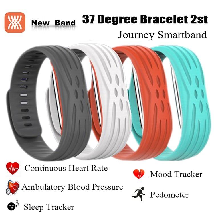 37 Degree 2nd 2S Bluetooth font b Smart b font Wristbands Bracelet Band Heart Rate Monitor