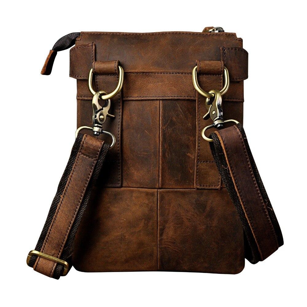 Mode äkta läder multifunktion casual midja pack cross-body väska - Bälten väskor - Foto 3