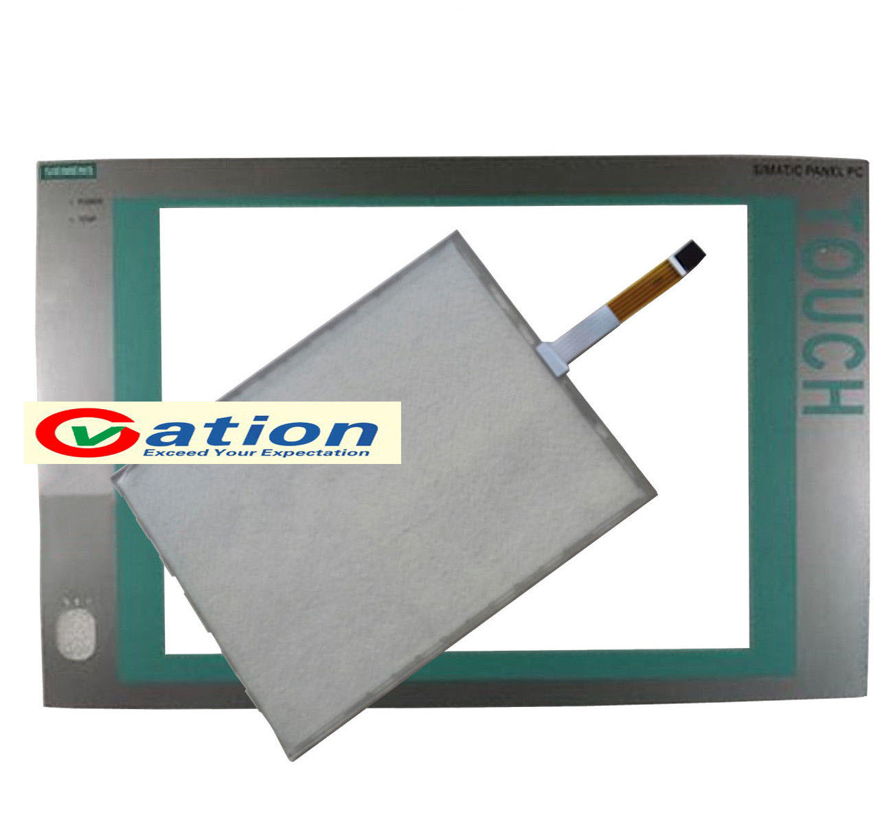 NEW for  A5E02713377 15T 677B/C Touchscreen + Protective Film