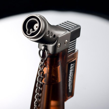 Creative Butane Torch Lighter Windproof Jet Gas Fire Starter Cohiba Cigar with Punch Refillable