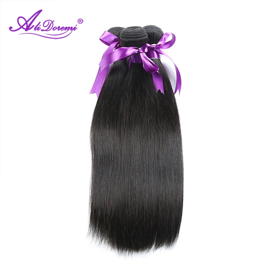 Alidoremi Hair Peruvian Straight Hair 3 Pcs Human Hair Bundles Non Remy Hair Extention 8 28