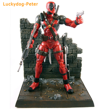 Deadpool Special Collector Edition Action Figure with Highly Detailed Base Deadpool Movable Doll PVC figure 18CM