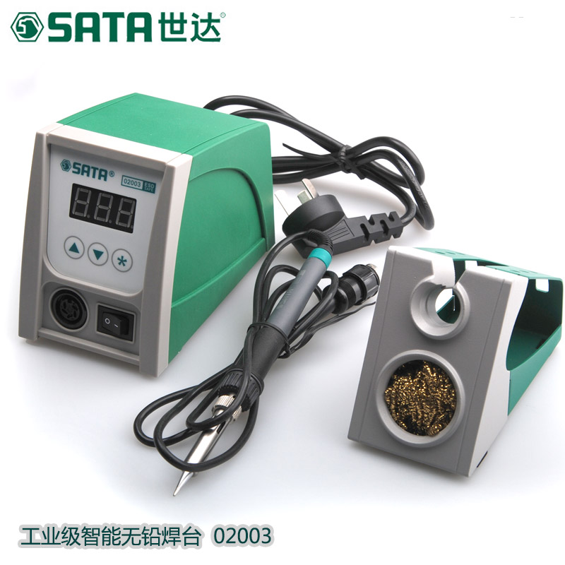 SATA intelligent lead-free digital display soldering station soldering iron computer phone repair combo welding tool 02003 цена