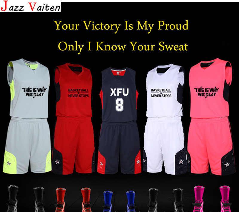 68512acb3a7 ... 2019 new arrived Men basketball jerseys set with pants customs hiphop street  basketball uniform shorts top ...