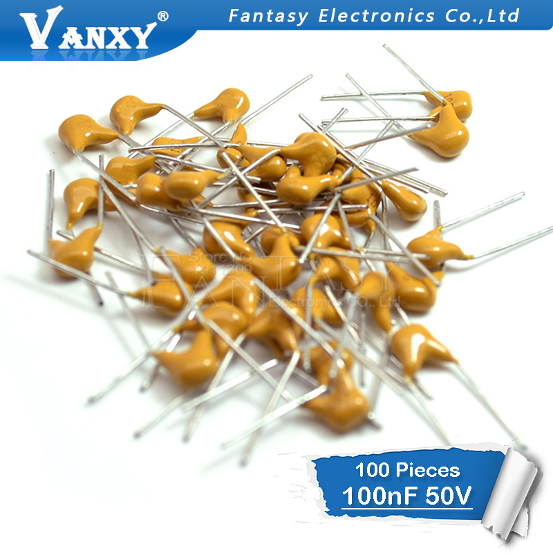 100PCS <font><b>100NF</b></font> 0.1UF 10% 5.08MM 104 50V MLCC multilayer monolithic ceramic capacitor <font><b>0805</b></font> image