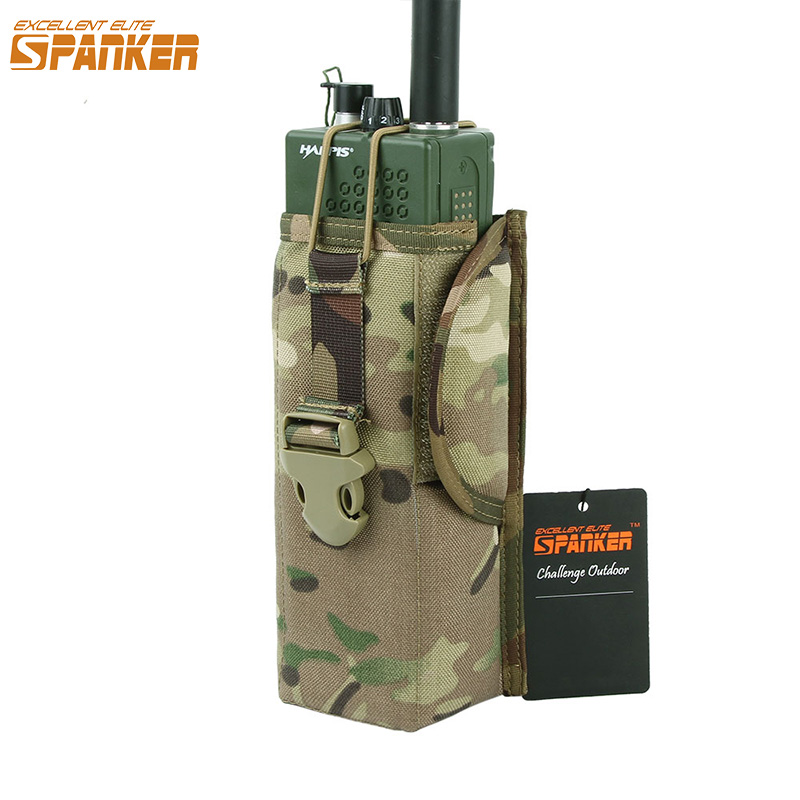 EXCELLENT ELITE SPANKER Tactical MOLLE PRC148/152 Radio Pouch Outdoor Military Hunting Walkie Talkie Pouch Holder Radio Accessor
