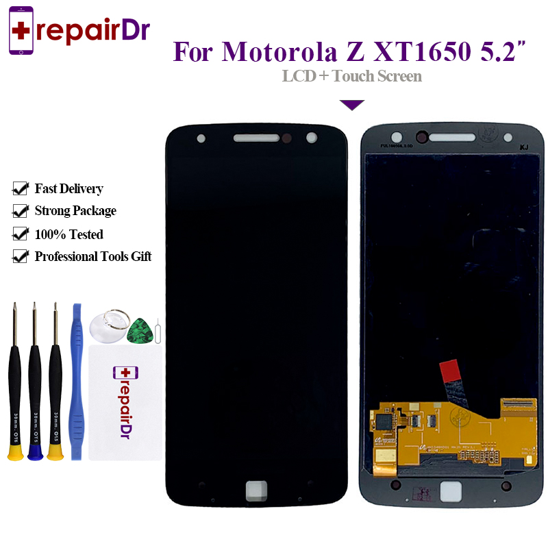 100% Tested <font><b>LCD</b></font> Display For Motorola Moto Z <font><b>XT1650</b></font> Touch Screen Digitizer 5.5 inch 1440*2560 For Moto Z <font><b>Lcd</b></font> Screen Assembly image