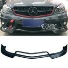 UHK Accessories For 2012-2014 Mercedes W204 C63 Big V Style Carbon Fiber Front Bumper Lip Spoiler Splitter Diffuser Protector