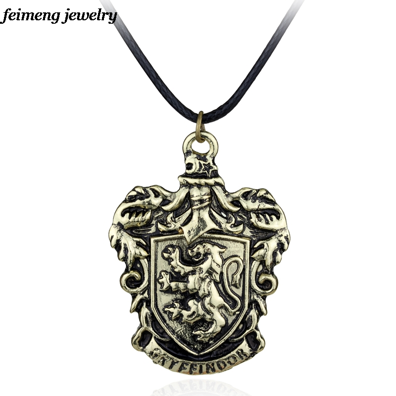 Dropshipping wholesale Gryffindor House Crest school Necklace Fashion Jewelry Necklace For Magic Movie Fans