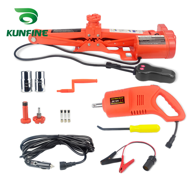Portable 12V 13A Max current Car Jack 2Ton Electric Auto Lift Scissor  Lifting Machinisms Muti Function