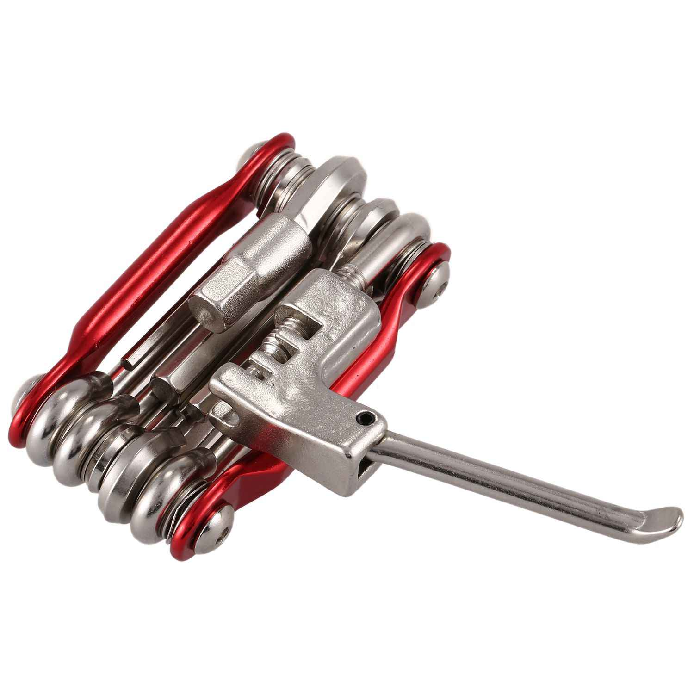 BMDT-11 в 1 Мини велосипедов Ремонт набор инструментов Отвертка + торцевой гаечный ключ + ножницы для обрезки цепей Портативный Мультитул