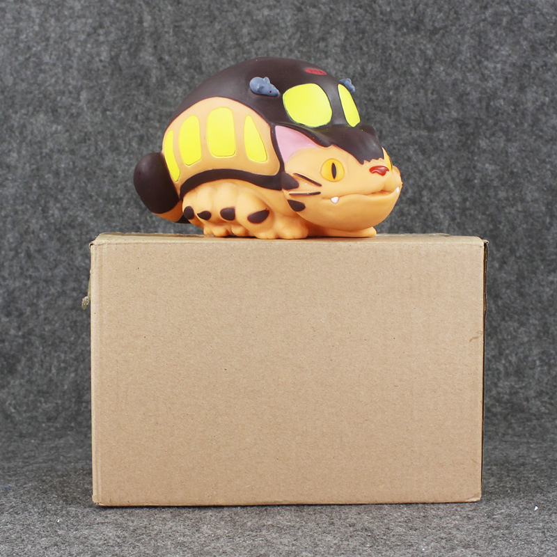 20cm Anime Cartoon Movie My Neighbor Totoro High Quality PVC Model Toy Totoro Cat Bus Bank Saving Pot Gifts anime cartoon lovely my neighbor totoro pvc action figures collectible model dolls toys kids gifts kt475 href