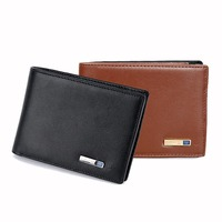 Smart Wallet Men Genuine Leather Intelligent Bluetooth Purse Male Card Holder Anti Lost Alarm GPS Map Tracker for IOS, Android