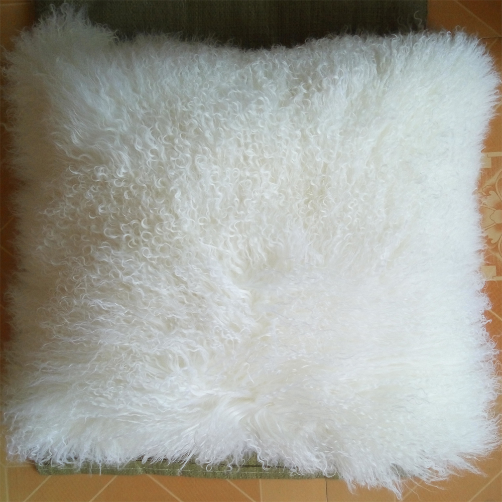 real white mongolian fur pillow cover throw pillow covers decorative pillows fur cushion cover capa