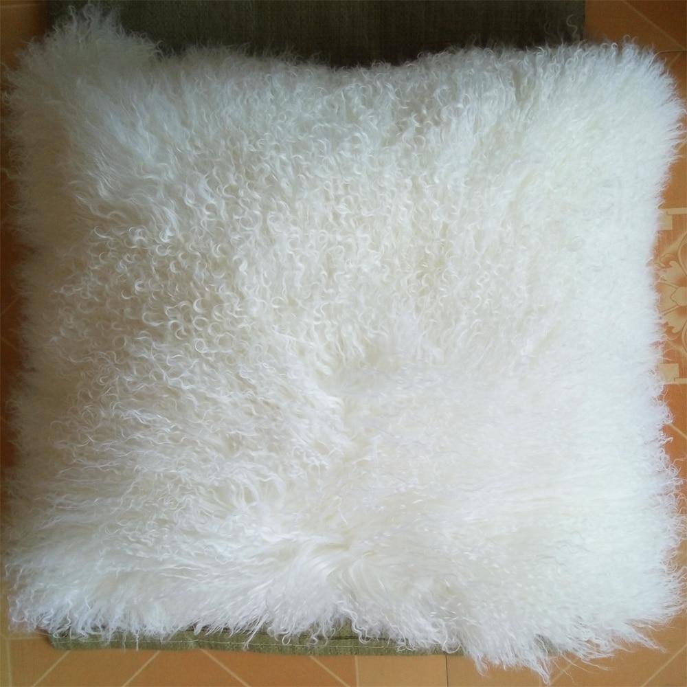 click here to buy now reel blanc de fourrure de mongolie taie d