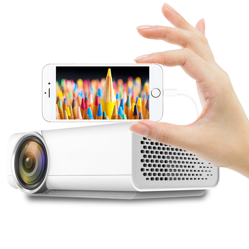 Portable Mini Video Projector HD 1080P 2200 Lumens Multimedia LCD Home Theater Projector W/HDMI Cable Support HDMI USB SD Card gp70 mini lcd 1200lm led theater home projector hdmi 1080p fhd