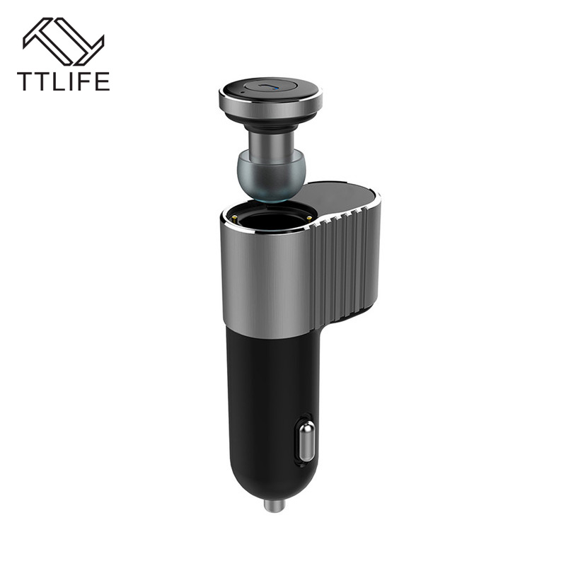 TTLIFE New Arrival Handfree Portable Wireless Bluetooth 4.1 stereo Earphone +Car Charger Multi-functional With Mic for Phones 2017 ttlife mini wireless earphone bluetooth headsets airpods with mic 2 in 1 with car charger for iphone 7 xiaomi mobile phones