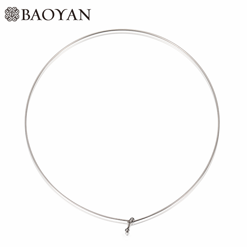 Chic Thin Wire Cable 316L Stainless Steel Gold Silver Color Choker Necklaces For Women-in Torques from Jewelry & Accessories on Aliexpress.com | ...