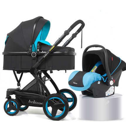 Carrinho de bebê multifuncional 3 em 1 pode sentar mentira carrinho de bebê recém-nascido alta qualidade carrinho de bebê alta paisagem carrinho de bebê
