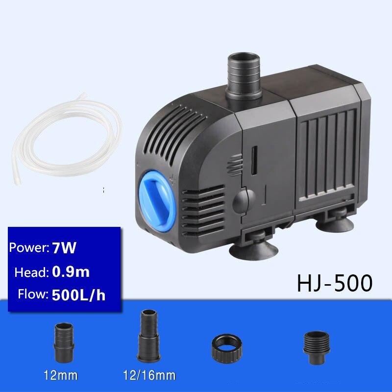 Multi - function submersible pumps HJ-500 Mute Submersible Pump Aquarium mini cylinder mini pump circulating filter pump