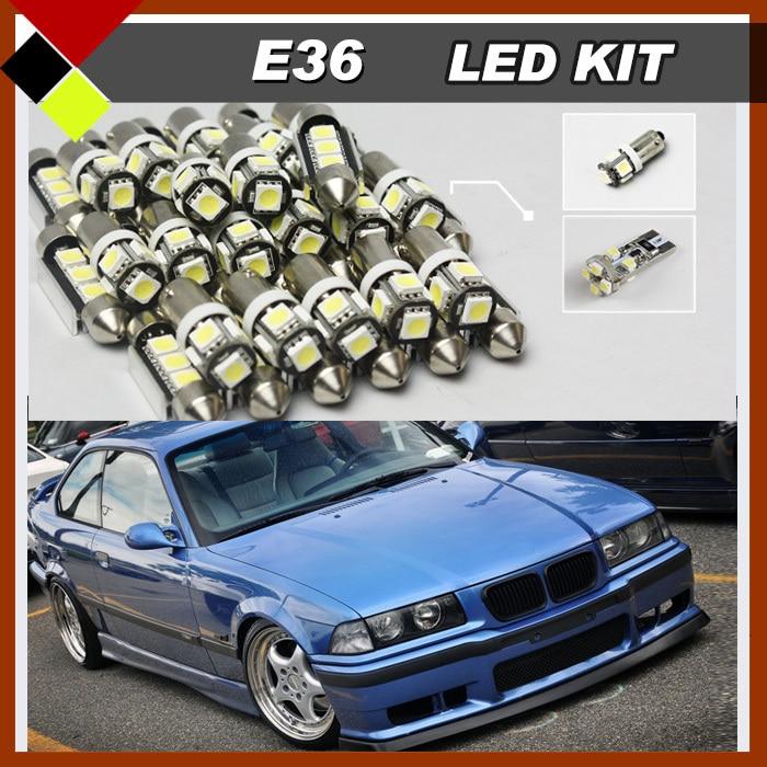 Automotive No Error Interior LED Kit Package Lights White 12V High Quality For E36 325i M3 1992-1998