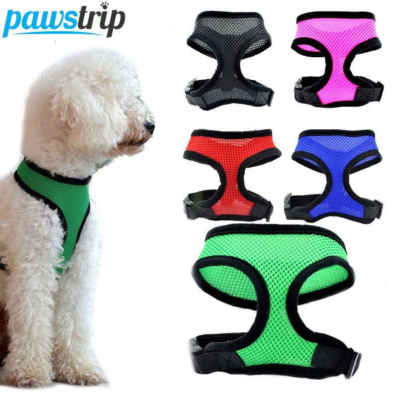 Mesh Puste Pet Hunde Harness Justerbar Outdoor Walking Vest Harness For Små Medium Hunde