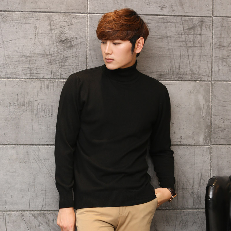 LHZSYY Autumn and winter New high lapel Cashmere Sweater casual solid color soft Men 's Sweaters Shirt pullovers 2017
