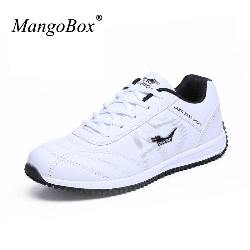 אדם עמיד למים נעלי ריצה לגברים נעלי ספורט מאמני עור יוקרה גברים Sneaker האביב/סתיו סניקרס גברים נעלי ריצת