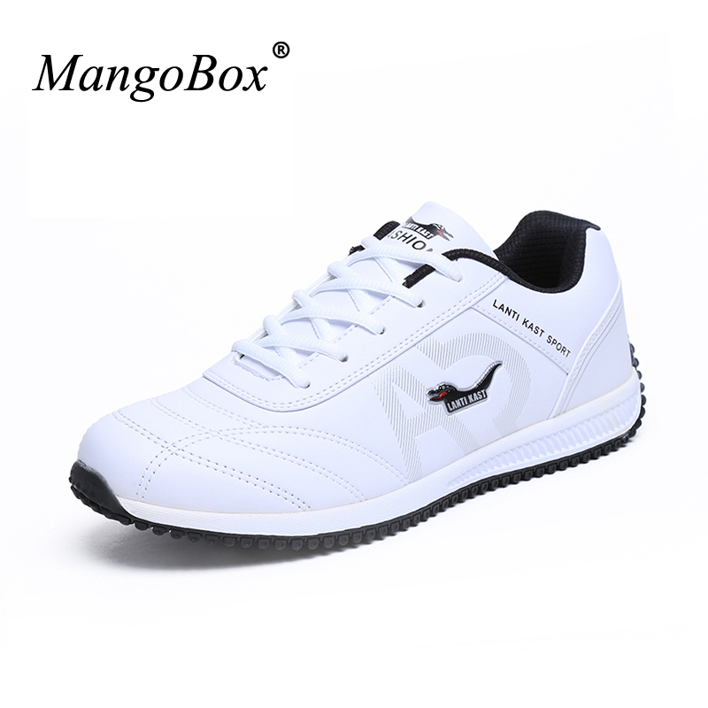 Running Sneakers For Men Waterproof Man Trainers Sport Shoes Leather Men Luxury Sneaker Spring/Autumn Sneakers Men Running Shoes qi wireless universal charger mobile smart night light 10w