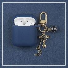 Luxury Diamond Star Moon Decor ซิลิโคนสำหรับ Apple Airpods กรณีอุปกรณ์เสริมหูฟังไร้สายบลูทูธป้องกัน