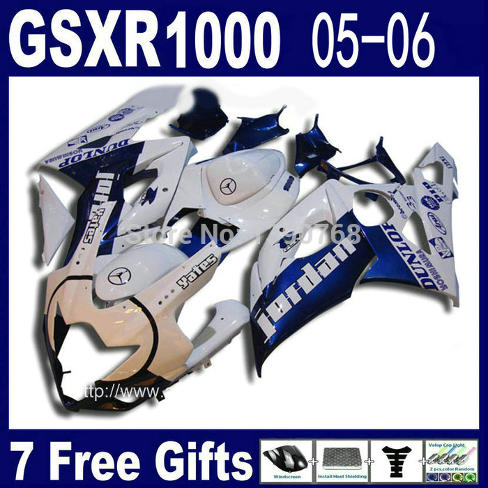 Injection molding fairing kit for SUZUKI GSX-R1000 05 06 K5 GSXR 1000 2005 2006 white blue motorcycle fairings set NM72 cowl abs full fairing kit for suzuki injection molding k5 gsxr1000 2005 2006 red flames black fairings set gsxr 1000 05 06 yq67 cowl