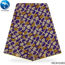 LIULANZHI guangzhou wax prints fabric real Dutch 100% cotton for African garment ML9H1676-1687