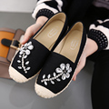 2017 Ladies Slipony Women Canvas Demin Espadrilles Rhinestone Hemp Flats Brand Designer Flat Shoes Loafers Espadrilles Loafer
