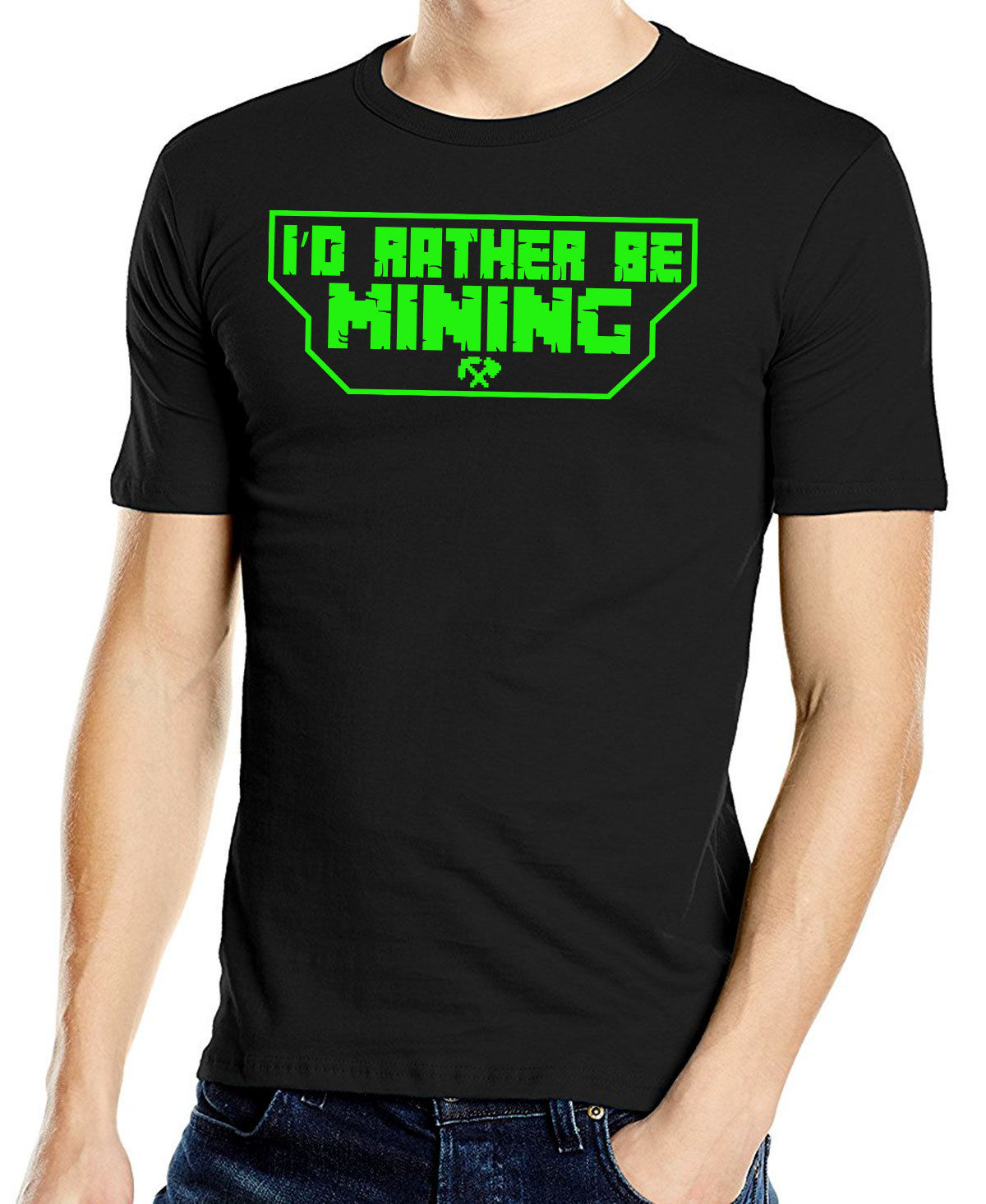 Id Rather Be Mining Gaming T-Shirt Adults & Children Mining Game T-Shirt