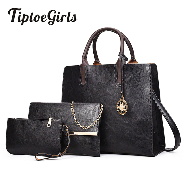 Winter New Retro Handbags Simple Atmospheric Handbag Professional Business Package High Capacity Mother Child