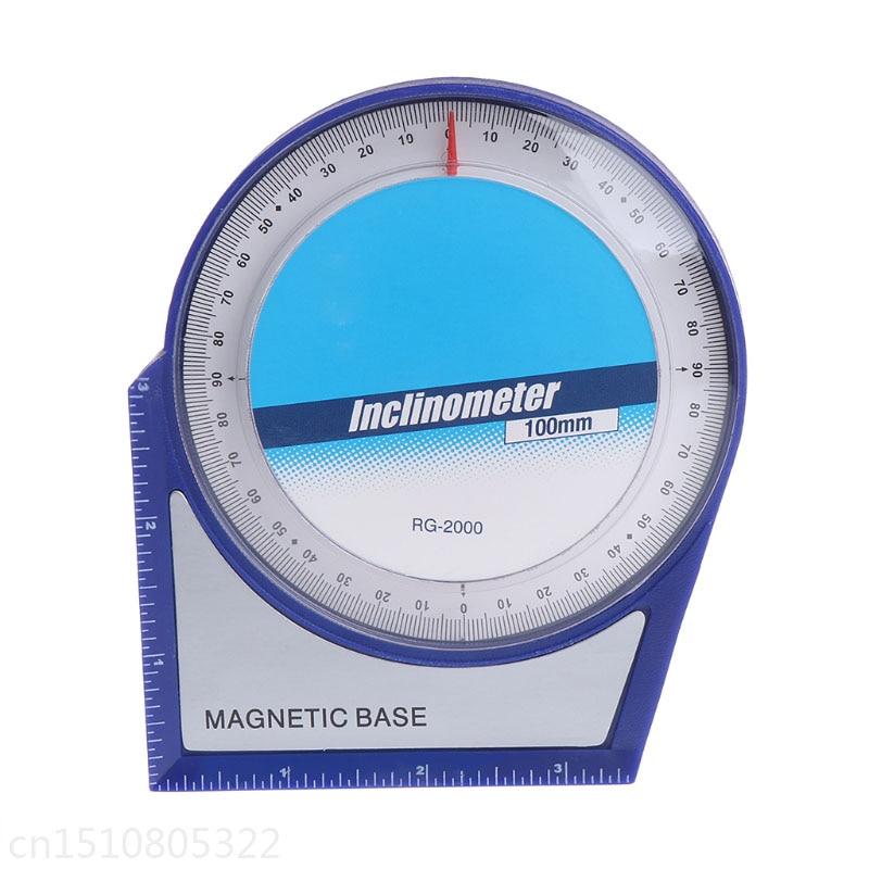 100mm Inclinometer Protractor Tilt Level Meter Angle Finder <font><b>Clinometer</b></font> Magnetic