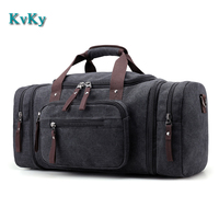 KVKY Man Travel Bag Large Capacity Handbag Traveling Duffle Bags High Quality Big Canvas Multifunctional Tote