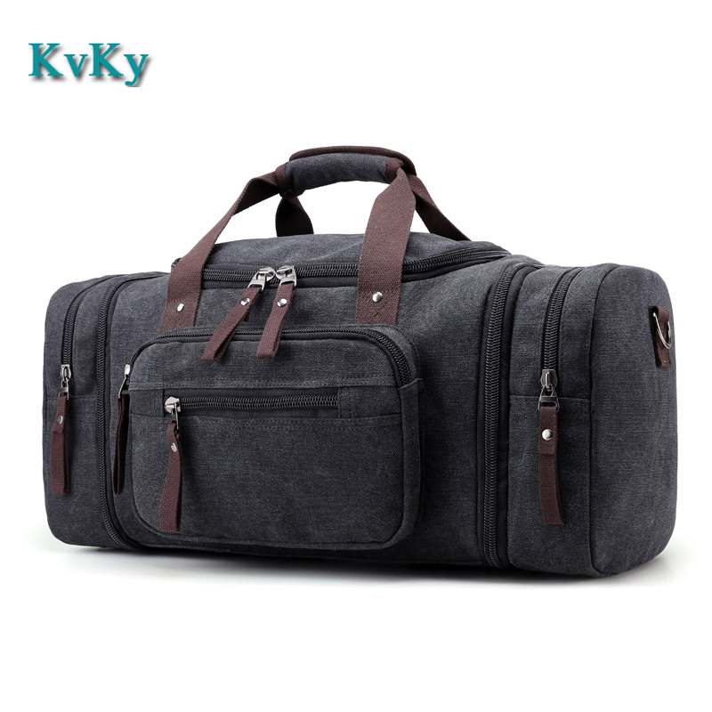 KVKY Man Travel Bag Large Capacity Handbag Traveling Duffle Bags High Quality Big Canvas Multifunctional Tote Bags high quality authentic famous polo golf double clothing bag men travel golf shoes bag custom handbag large capacity45 26 34 cm
